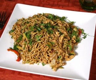 Noodles with Chicken, Lamb or Vegetables